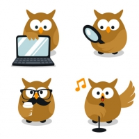 OWL VECTOR WEBSITE MASCOTS