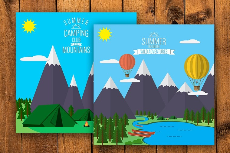 MOUNTAIN FLAT ILLUSTRATIONS