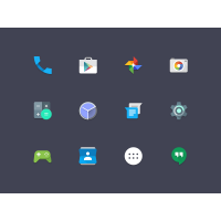 Android Lollipop Icons Set PSD