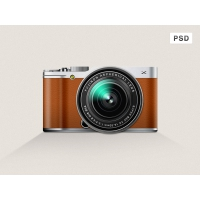 Fujifilm X-M1 Mirrorless Digital Camera Icon PSD