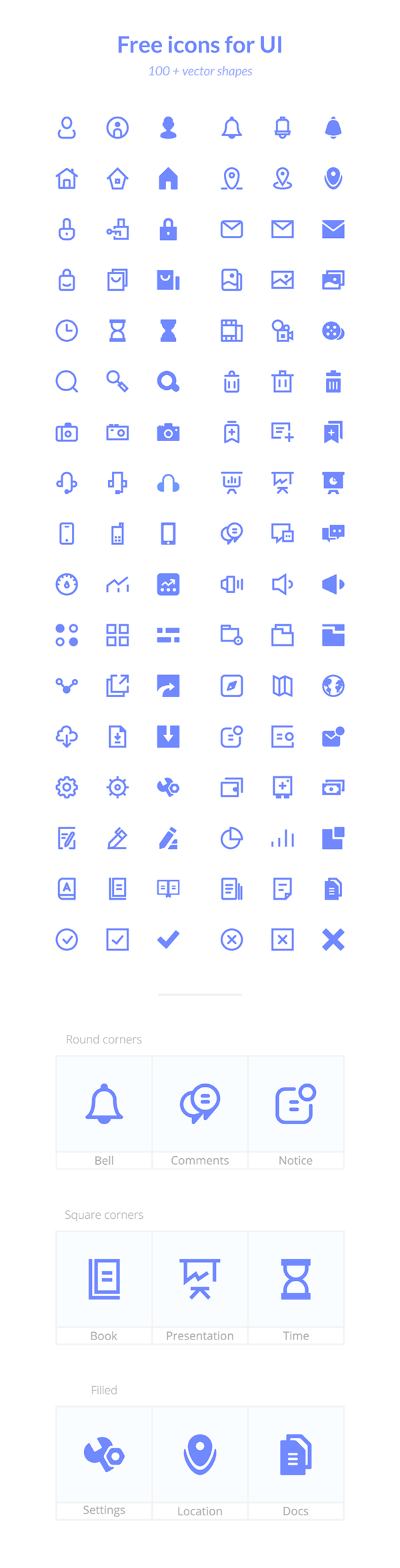 Basic Collection Of Free Icons For UI