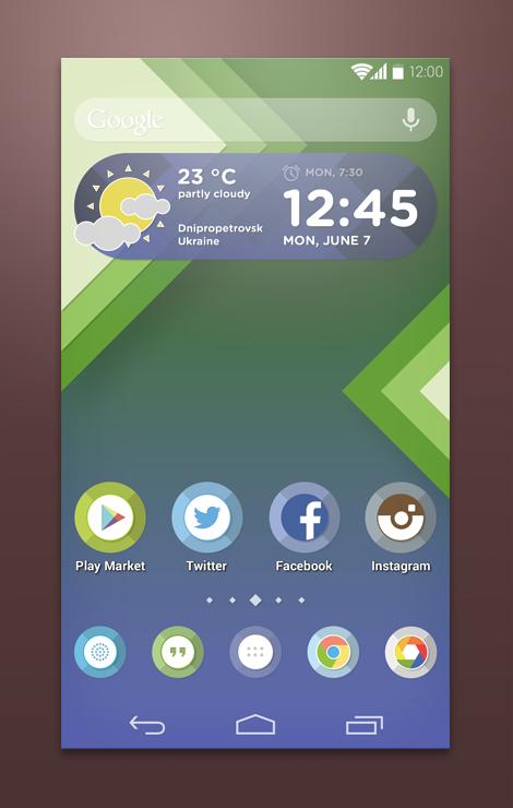 Custom Android Launcher Theme PSD