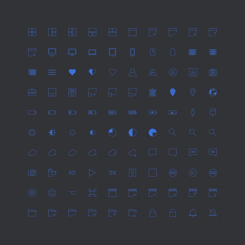 100 Free Mini Pixel Icons PSD Set