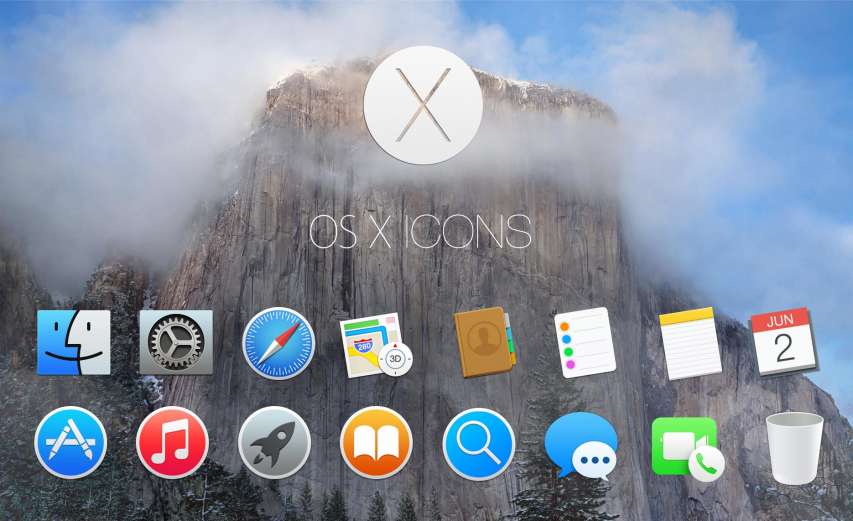 OSX Yousemite Icons PSD