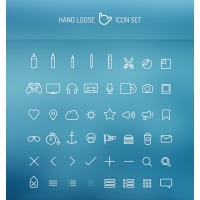 Thin Line Web Icons PSD Pack