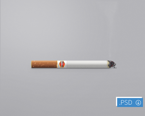 Cigarette Icon PSD File