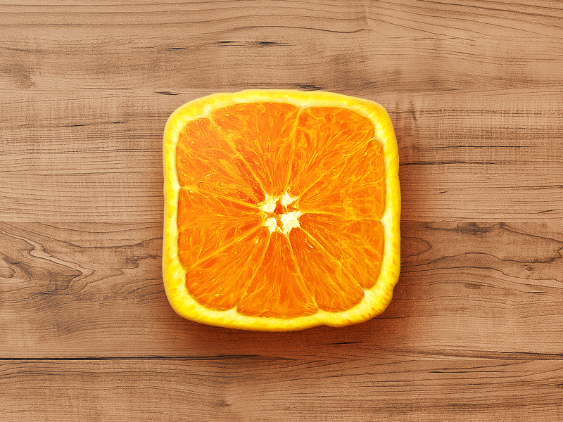 Square Orange App Icon PSD