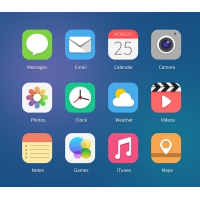 iOS7 Icons Concept PSD File