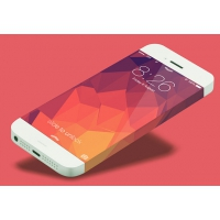 iPhone 6 Phone Concept Template PSD