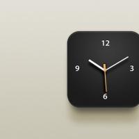 Clock iOS Icon PSD File