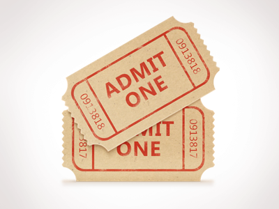 Movie Ticket Set Free PSD