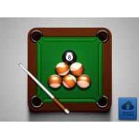 Billiard Icon Free PSD
