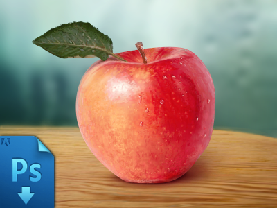 Realistic Apple Free PSD