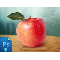 Realistic Apple Free PSD