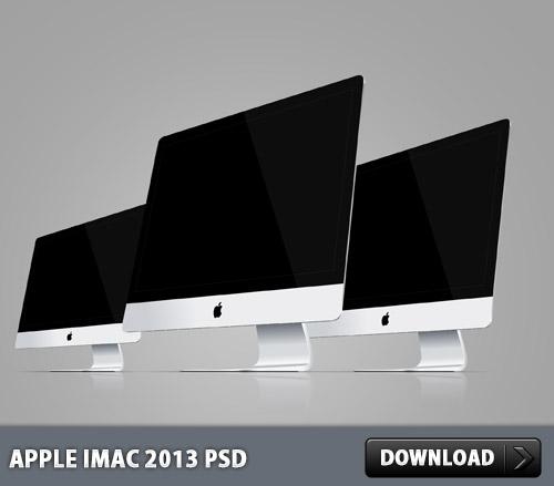 Apple iMac 2013 PSD File