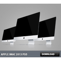 Apple iMac 2013 PSD File