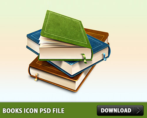 Books Icon PSD File