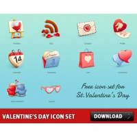 Valentine's Day Free Icon Set