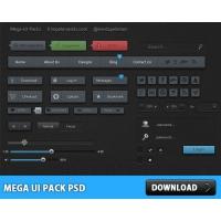 Mega UI Pack PSD File