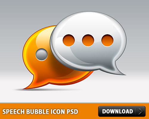 Speech Bubble Icon PSD