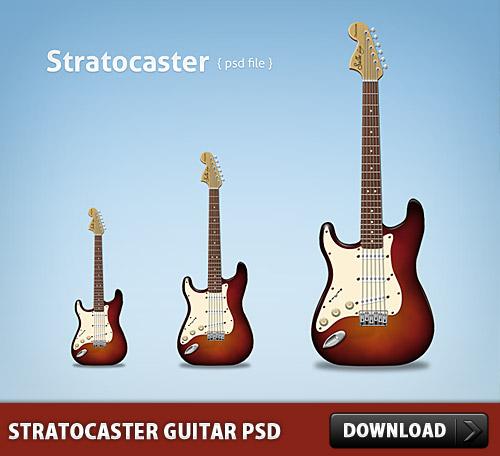 Stratocaster Guitar Free PSD