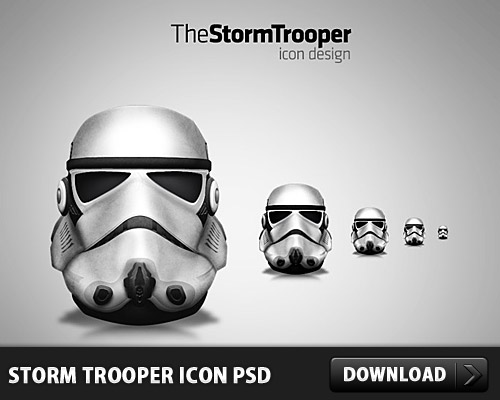 Storm Trooper Icon PSD