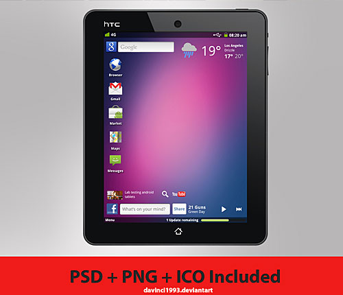 HTC Aurora Concept Free PSD