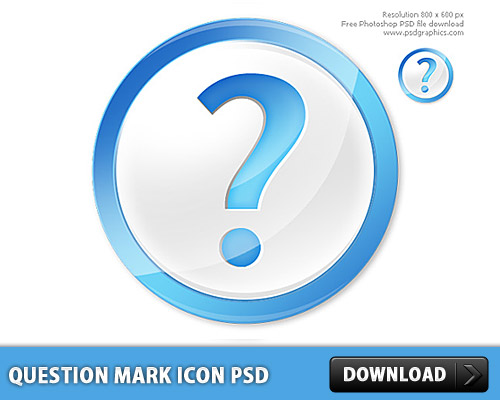 Question Mark Icon PSD