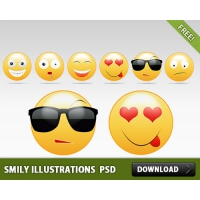 Smily Illustrations Free PSD