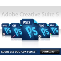Adobe CS5 Doc Icon Free PSD Set