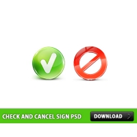 Check and Cancel Sign Free PSD