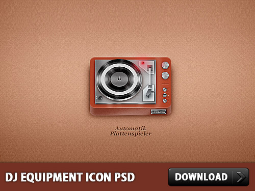 DJ Equipment Icon PSD