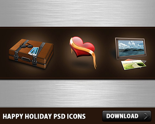 Happy Holidays Free PSD Icons