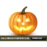 Halloween Pumpkin Icon PSD