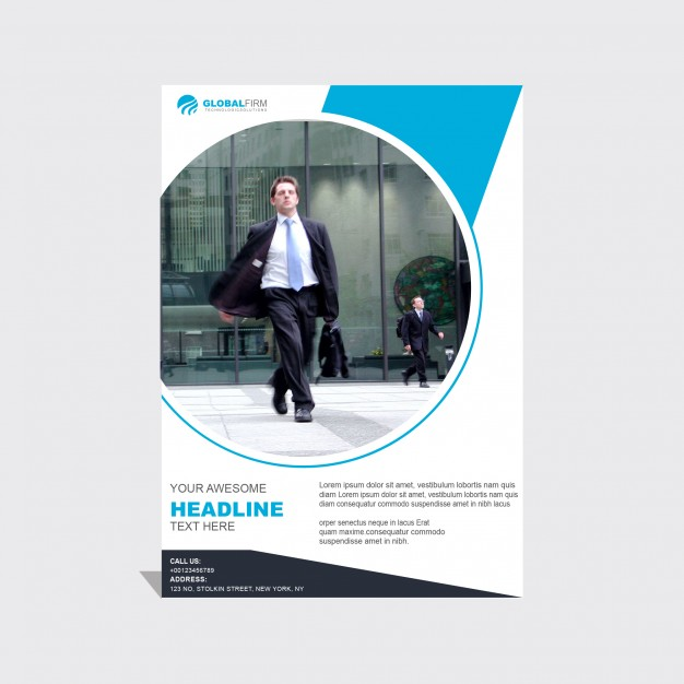 Blue And White Business Brochure