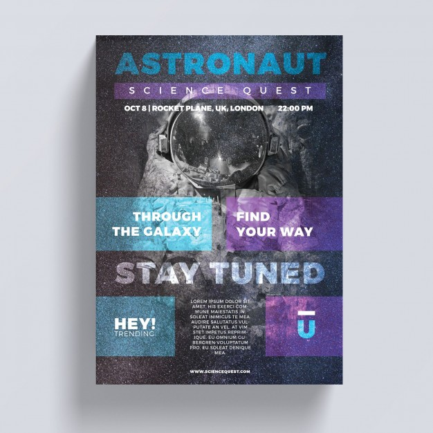 Astronaut Flyer Template