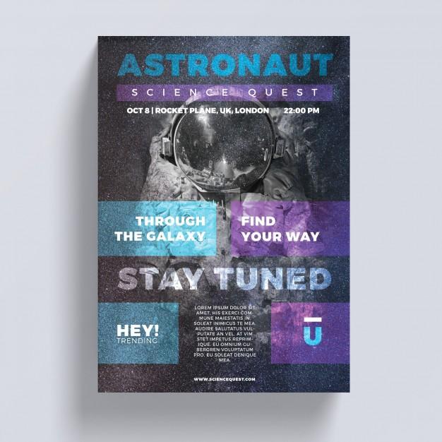 Astronaut Flyer Template