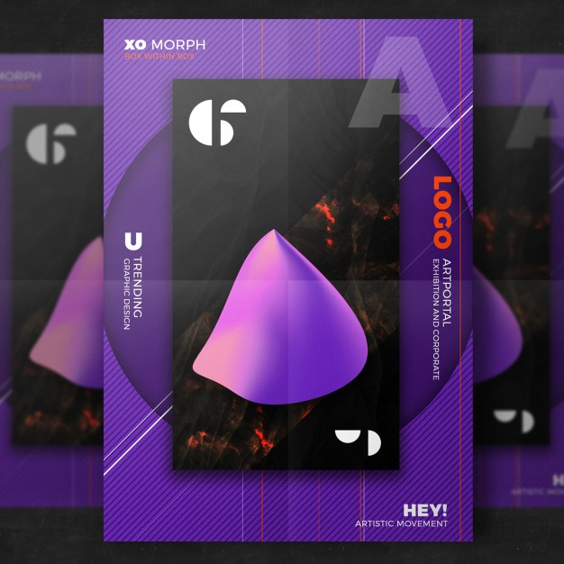 Purple Creative Poster Template