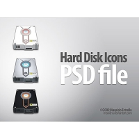 Hard Disk Icons Free PSD