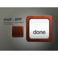 Wooden Shelf Icon PSD