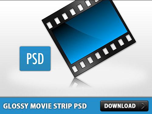 Glossy Movie Strip PSD