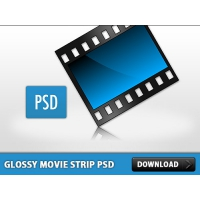 Glossy Movie Strip PSD
