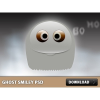 Ghost Smiley PSD File