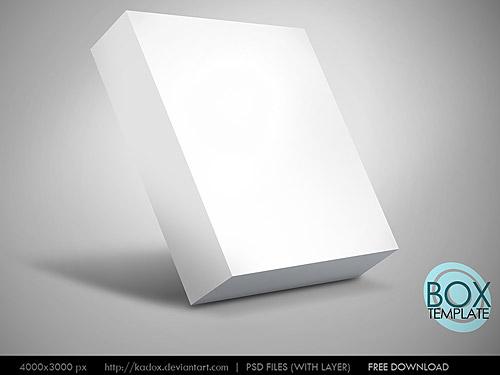 Box Template PSD