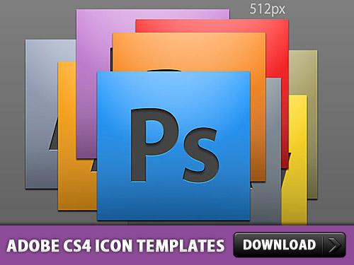 Adobe CS4 Icon PSD Templates
