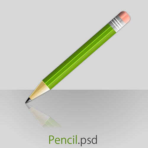 Free Pencil PSD File
