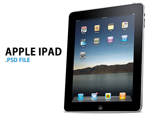 Apple iPad PSD