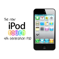 iPod Touch 4th Gen PSD