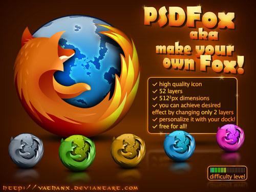 PSD Firefox Icon