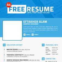 Simple Professional Resume Template PSD File